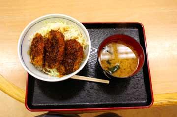 ソースカツ丼@姨捨 SA 上り線スナックコーナー